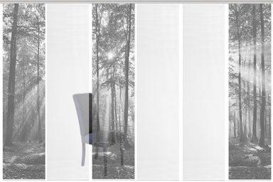 Schiebegardine »6ER SET FLORESTA«, Vision S, Paneelwagen (6 Stück), Schiebevorhang 6er Set Digitaldruck