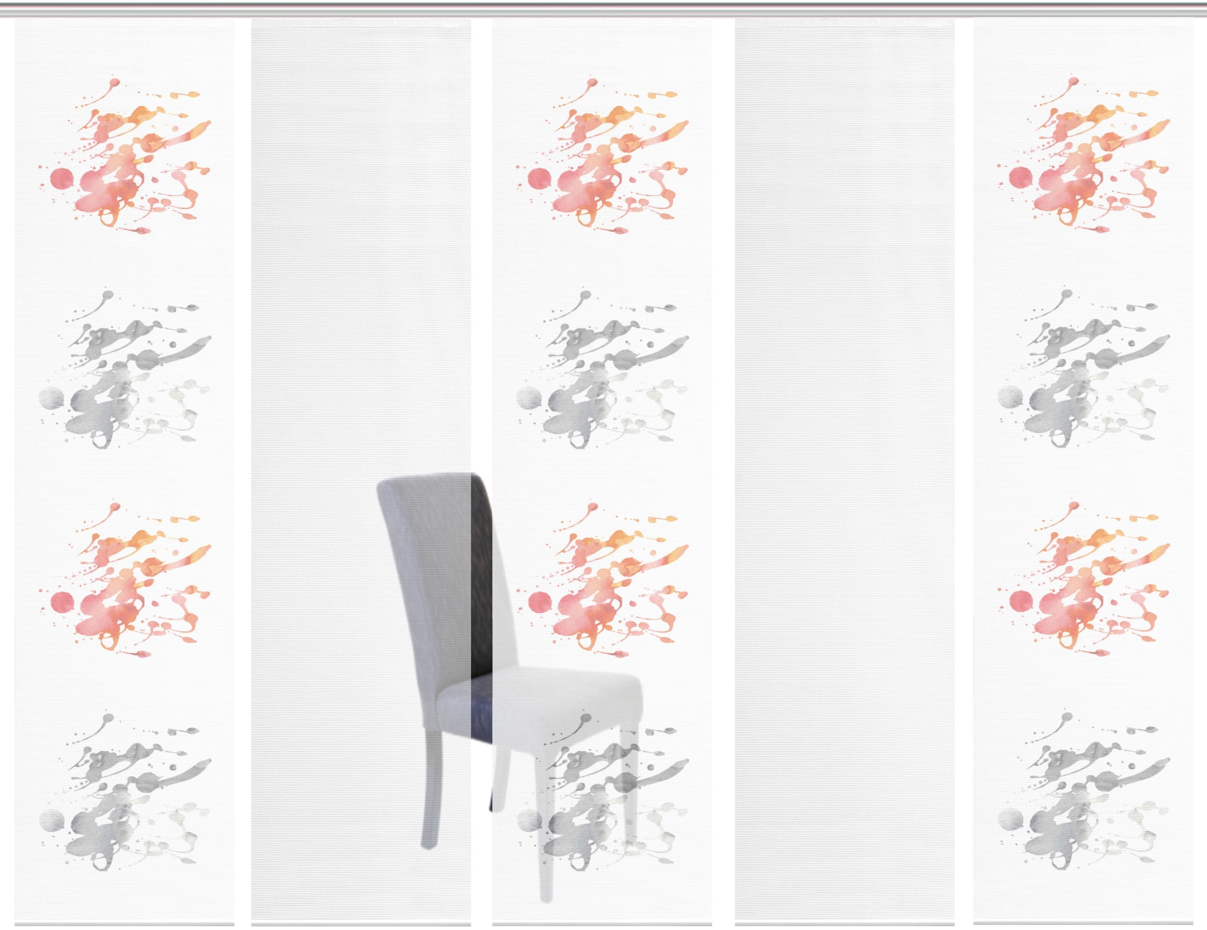 Schiebegardine »5ER SET LUTARA«, Vision S, Paneelwagen (5 Stück), Schiebevorhang 5er Set Digitaldruck