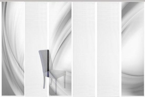Schiebegardine »6ER SET UNO«, Vision S, Paneelwagen (6 Stück), HxB: 260x60, Schiebevorhang 6er Set Digitaldruck