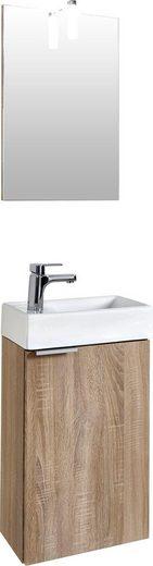 Homexperts Waschtisch-Set »Gizo«, (Set, 4-tlg), mit LED-Beleuchtung, für Gäste-WC geeignet