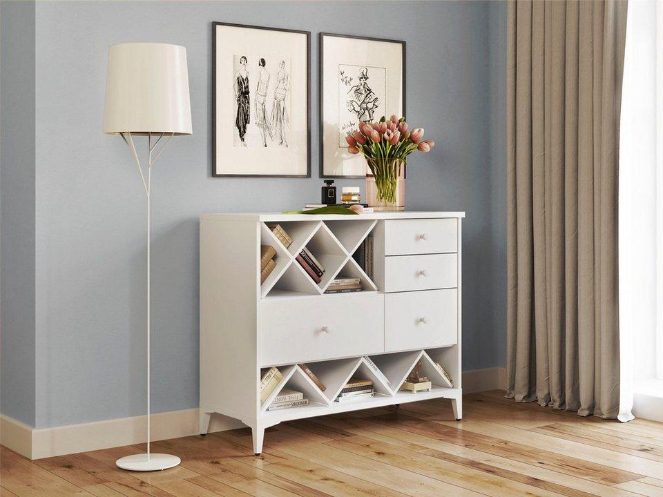 home affaire kommode orla in wei oder mit dezentem. Black Bedroom Furniture Sets. Home Design Ideas