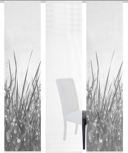 Schiebegardine »3ER SET SELO«, Vision S, Paneelwagen (3 Stück), Schiebevorhang 3er Set Digitaldruck