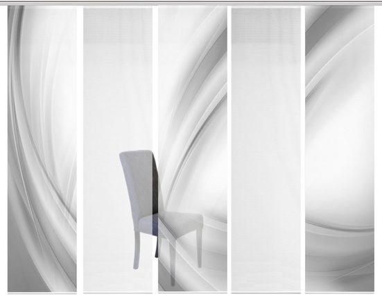 Schiebegardine »5ER SET UNO«, Vision S, Paneelwagen (5 Stück), Schiebevorhang 5er Set Digitaldruck
