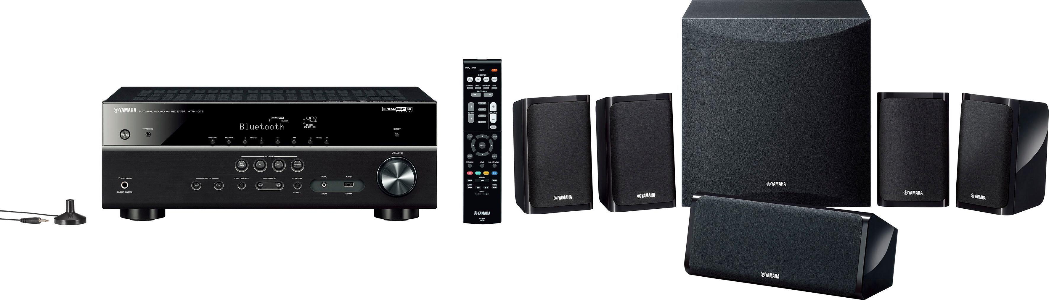 Yamaha YHT-2950 EU 5.1 Heimkinosystem (200 W, Bluetooth, 4K Upscaling, 3D-fähig)