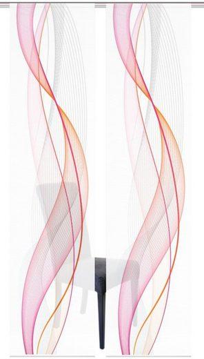 Schiebegardine »2ER SET HEIGHTS«, Vision S, Paneelwagen (2 Stück), Schiebevorhang 2er Set Digitaldruck