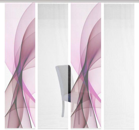 Schiebegardine »4ER SET LADA«, Vision S, Paneelwagen (4 Stück), Schiebevorhang 4er Set Digitaldruck
