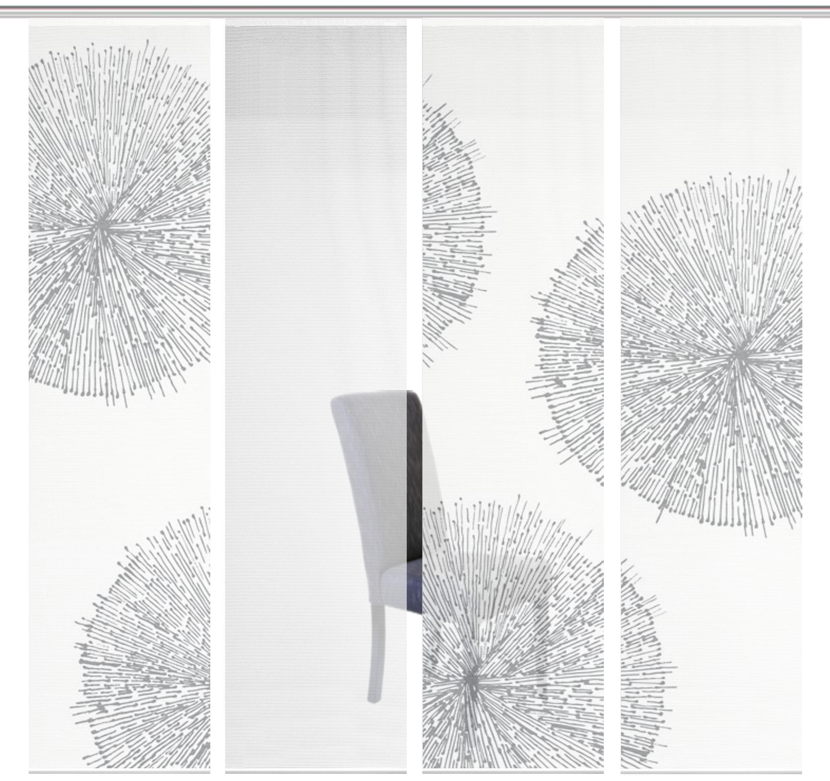 Schiebegardine »4ER SET CRESTON«, Vision S, Paneelwagen (4 Stück), Schiebevorhang 4er Set Digitaldruck