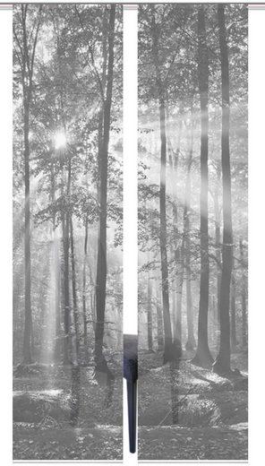 Schiebegardine »2ER SET FLORESTA«, Vision S, Paneelwagen (2 Stück), Schiebevorhang 2er Set Digitaldruck