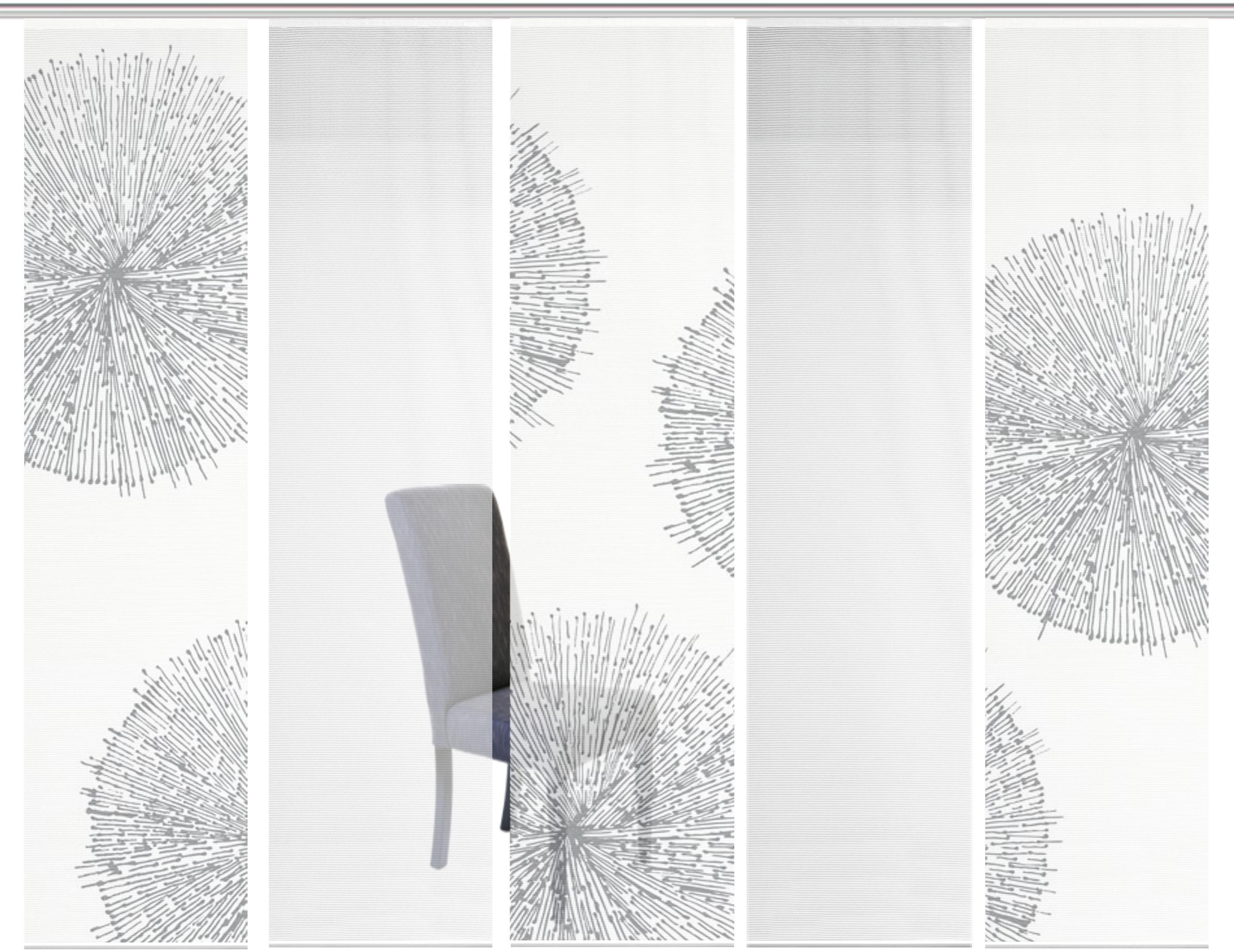 Schiebegardine »5ER SET CRESTON«, Vision S, Paneelwagen (5 Stück), Schiebevorhang 5er Set Digitaldruck