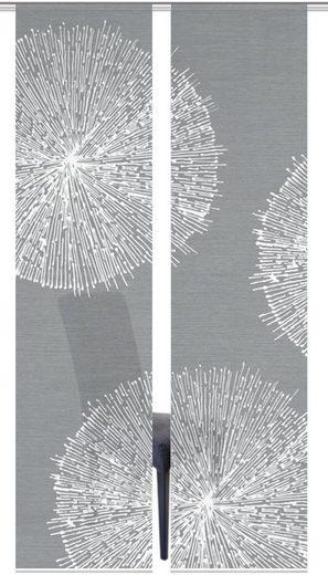 Schiebegardine »2ER SET CRESTON«, Vision S, Paneelwagen (2 Stück), HxB: 260x60, Schiebevorhang 2er Set Digitaldruck