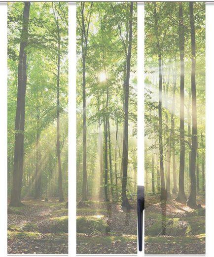 Schiebegardine »3ER SET FLORESTA«, Vision S, Paneelwagen (3 Stück), Schiebevorhang 3er Set Digitaldruck