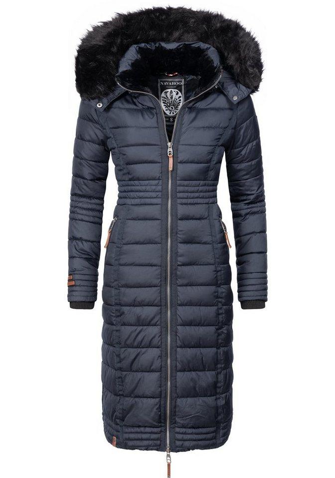 quality design 64630 d0862 Navahoo Wintermantel »Umay« langer Damen Winter Steppmantel mit  Kunstfellkapuze online kaufen | OTTO