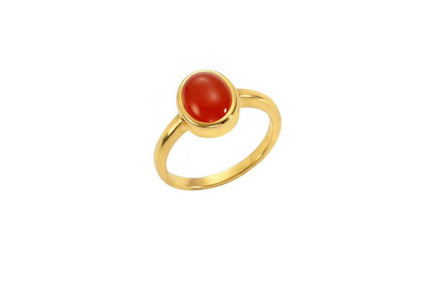 Jamelli Ring »925/- Sterling Silber vergoldet mit Carneol«   Schmuck > Ringe > Silberringe   Gelb   Jamelli
