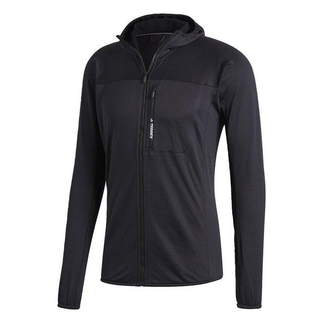 adidas Performance Funktionsjacke »TERREX TraceRocker Hooded Fleece« | Bekleidung > Jacken > Funktionsjacken | Schwarz | Polyester - Elastan | adidas Performance