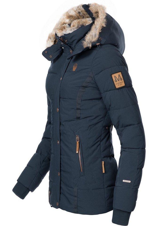 9bed80273e2f17 Marikoo Winterjacke »Nekoo« stylische Damen Steppjacke mit großer Kapuze