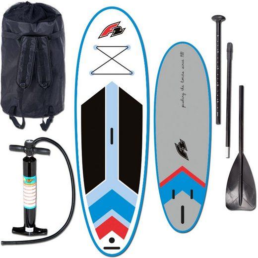 F2 Inflatable SUP-Board »I- SUP Star Windsurf«, (Set, 4 tlg., mit Paddel, Pumpe und Transportrucksack)