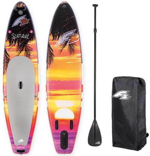 F2 Inflatable SUP-Board »I- SUP Sunset 10,5«, (Set, 4 tlg., mit Paddel, Pumpe und Transportrucksack)