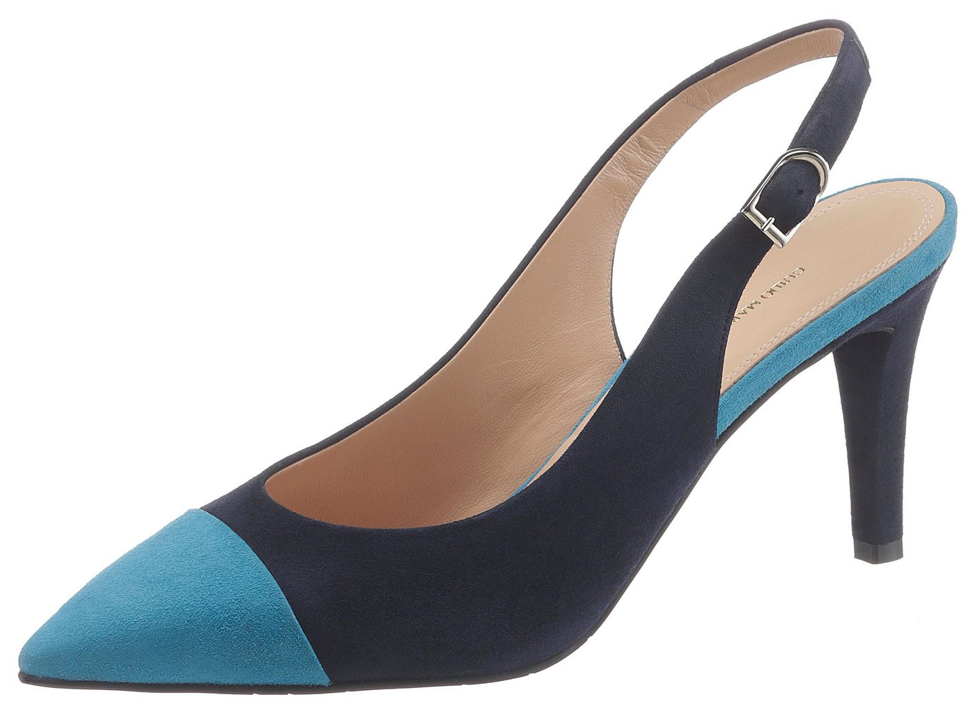 GUIDO MARIA KRETSCHMER Slingpumps in spitz zulaufender Form | Schuhe > Pumps > Slingpumps | Blau | Leder | GUIDO MARIA KRETSCHMER
