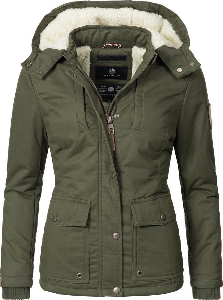 online store 8d53b 59ee5 Marikoo Winterjacke »Keikoo« sportliche Damen Outdoor Baumwolljacke mit  Kapuze online kaufen | OTTO