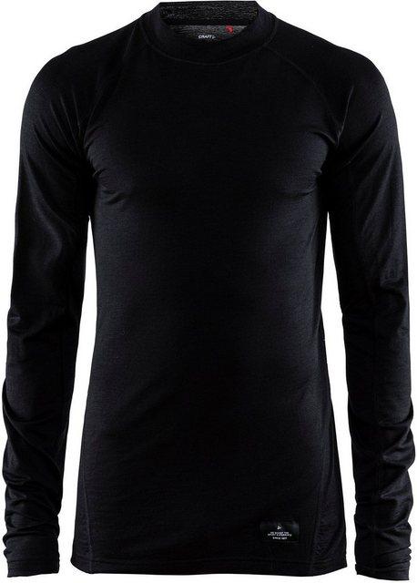 Herren Craft Sweatshirt Merino Lightweight Crew Neck LS Men schwarz | 07318572938465