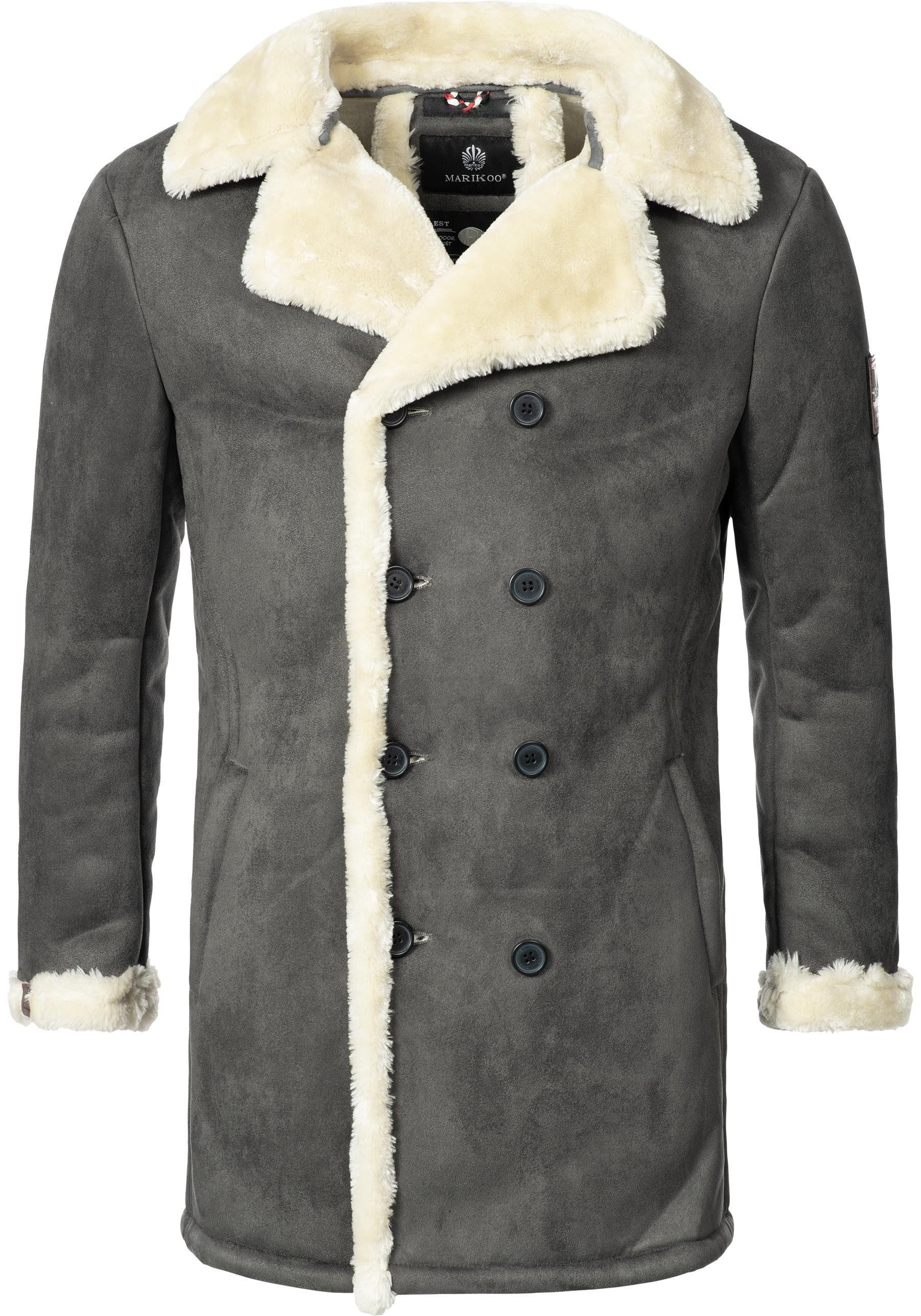 Marikoo Winterjacke »Yasuoo« stylischer Herren Winterparka mit Reverskragen online kaufen | OTTO