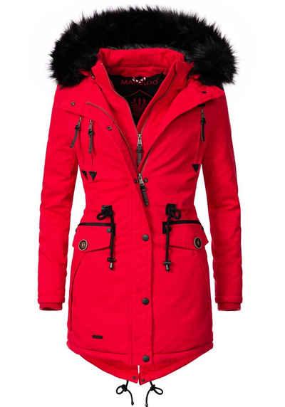 Roter mantel damen