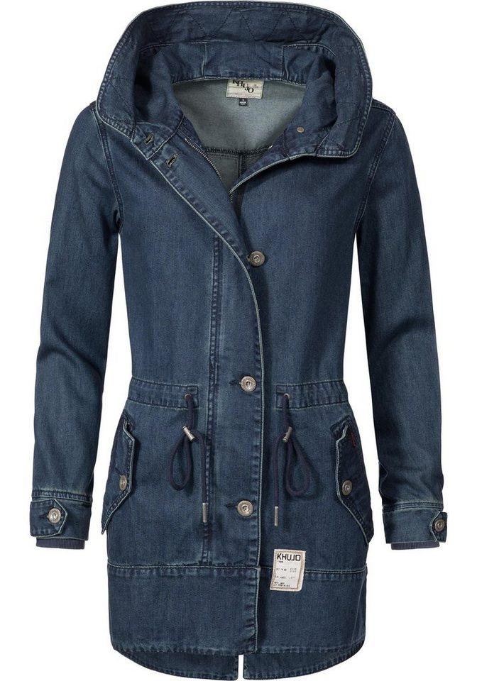 9fafcab5519a khujo Parka »YM-Shinta Just Denim« stylische Übergangs-Jacke in edler Jeans