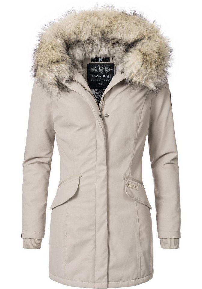 0c2057148b5118 Navahoo Wintermantel »Cristal« stylischer Damen Winterparka mit ...
