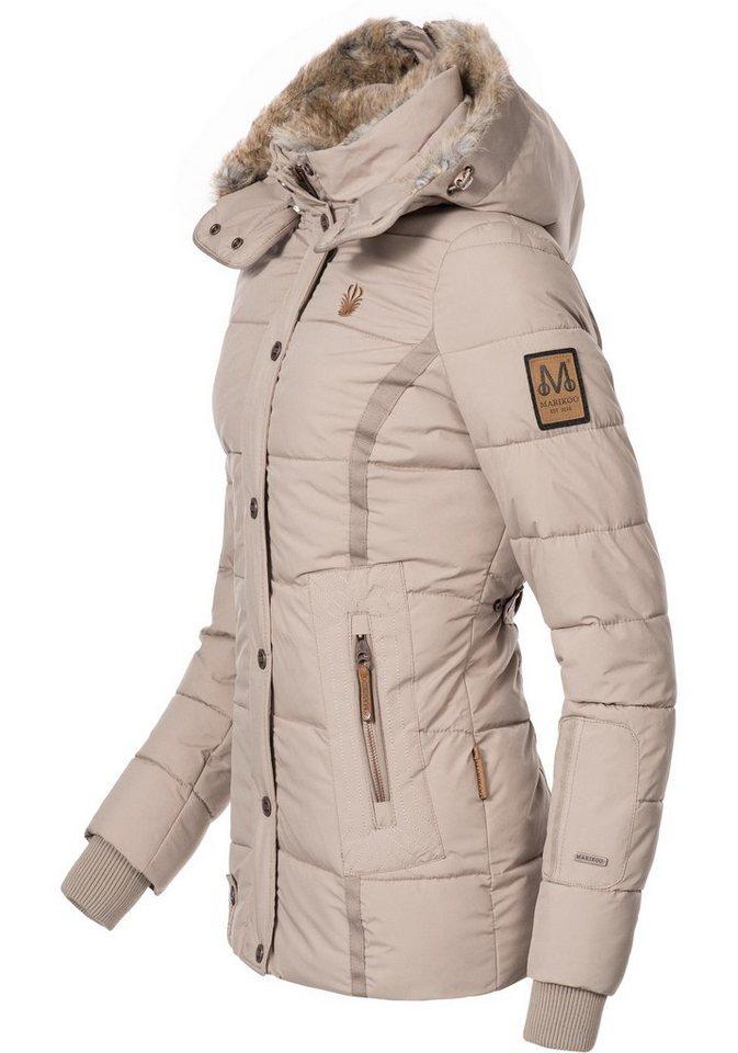 aadc07f8941181 Marikoo Winterjacke »Nekoo« stylische Damen Steppjacke mit großer ...