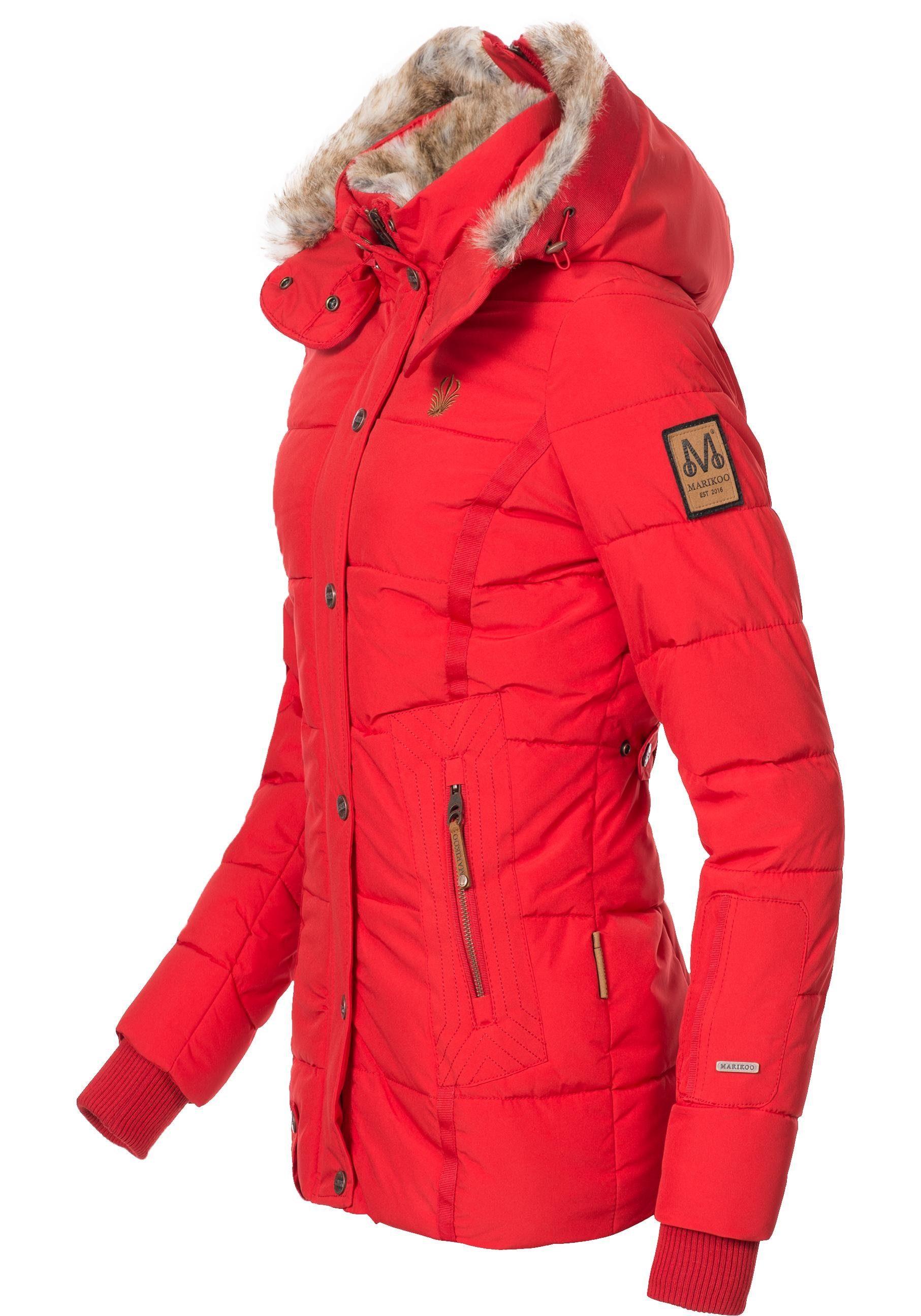 Marikoo Winterjacke »Nekoo« stylische Damen Steppjacke mit großer Kapuze online kaufen | OTTO