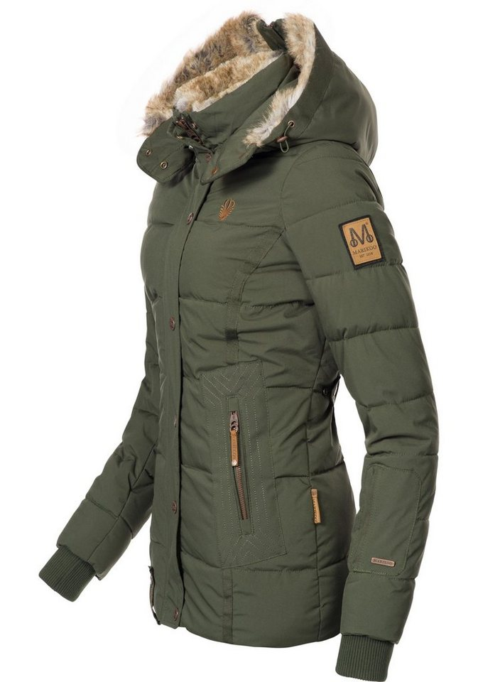 1eafba0277f2 Marikoo Winterjacke »Nekoo« stylische Damen Steppjacke mit großer Kapuze
