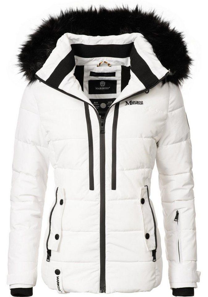 d9f11067605b3b Marikoo Winterjacke »Snowgirl« sportliche Damen Steppjacke mit ...