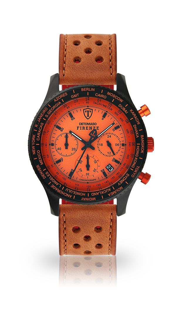 Detomaso Chronograph »FIRENZE BLACK ORANGE«