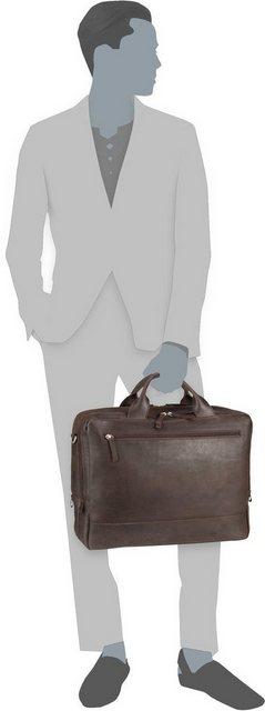 Jost Aktentasche »Narvik 1347 Businesstasche 2 Fächer« | Taschen > Business Taschen > Sonstige Businesstaschen | Braun | Nylon | Jost