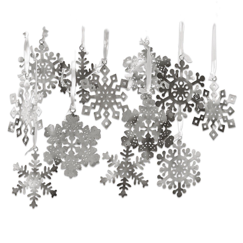Loberon Weihnachtsschmuck 12er Set »Flocon de neige«