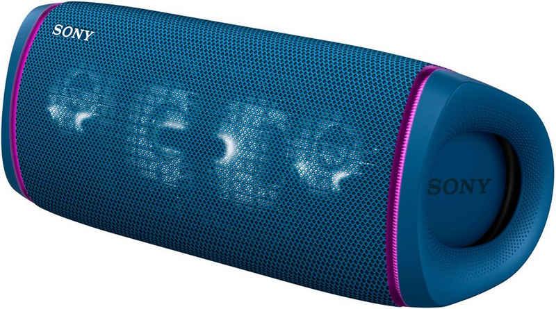 Sony SRS-XB43 tragbarer, kabelloser Bluetooth-Lautsprecher (Bluetooth, NFC, Mehrfarbige Lichtleiste, Lautsprecherbeleuchtung, wasserabweisend, Extra Bass)