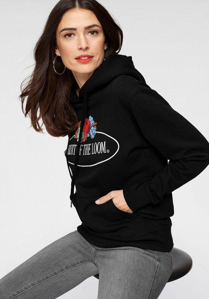 fruit of the loom hoodie mit gro em logo print otto. Black Bedroom Furniture Sets. Home Design Ideas