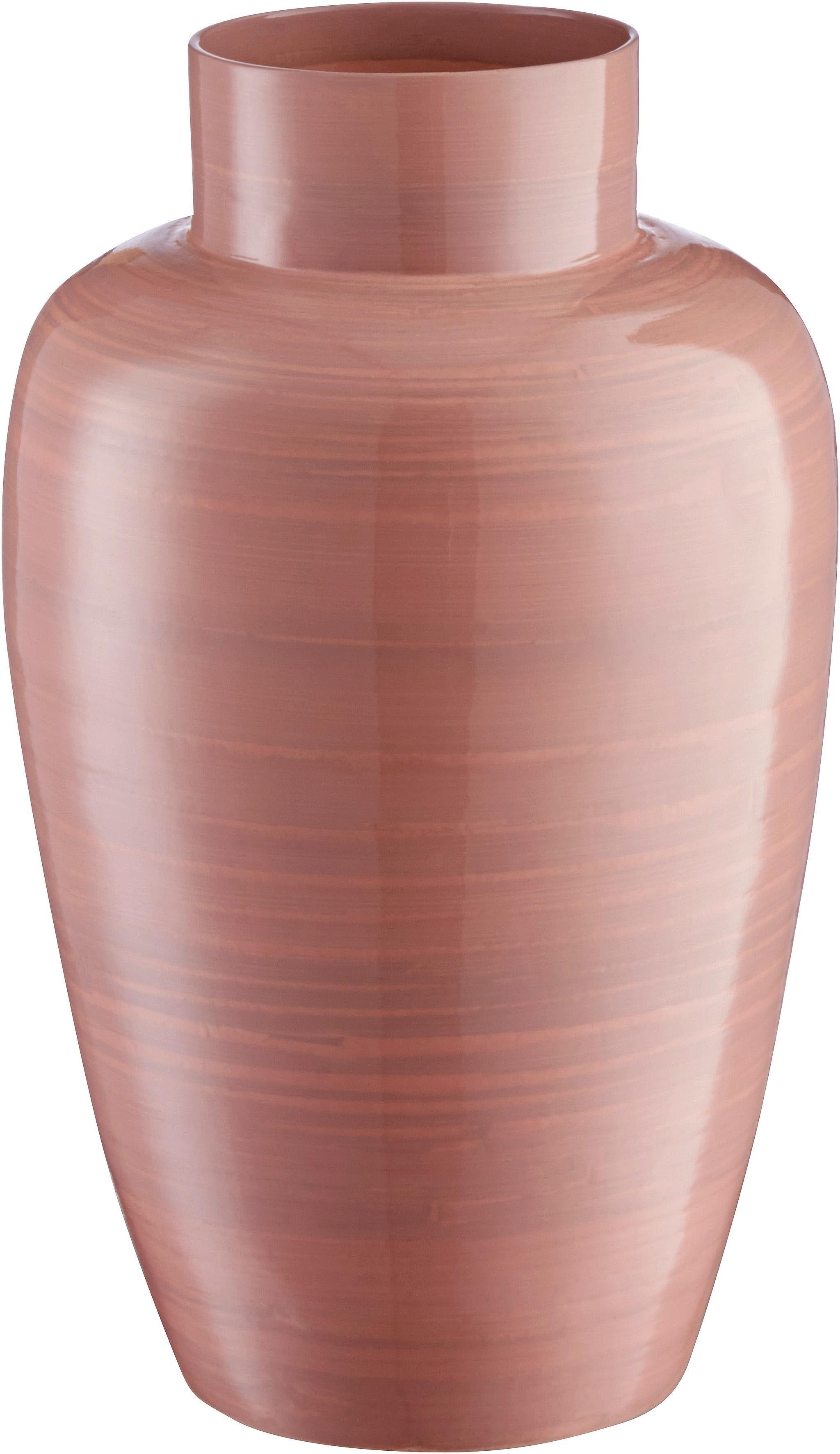 Home affaire Vase »Pinky« aus Bambus, Höhe 35 cm