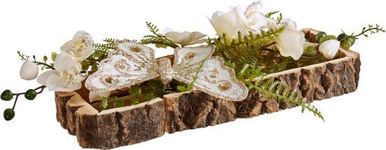 Home affaire Holztablett, Orchidee/Schmetterling