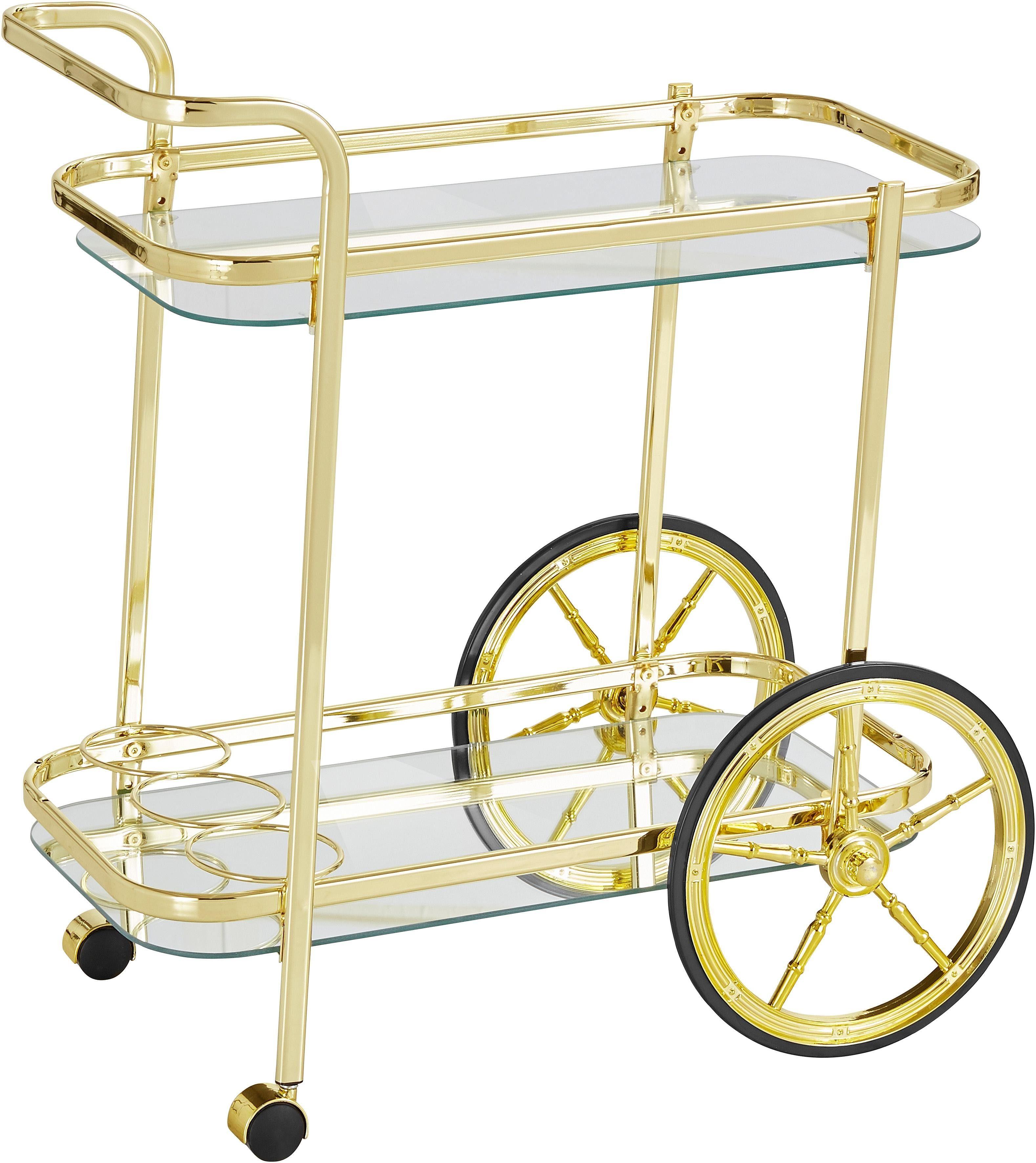 Home affaire Servierwagen aus Stahlrohr mit 2 Rädern und 2 Rollen