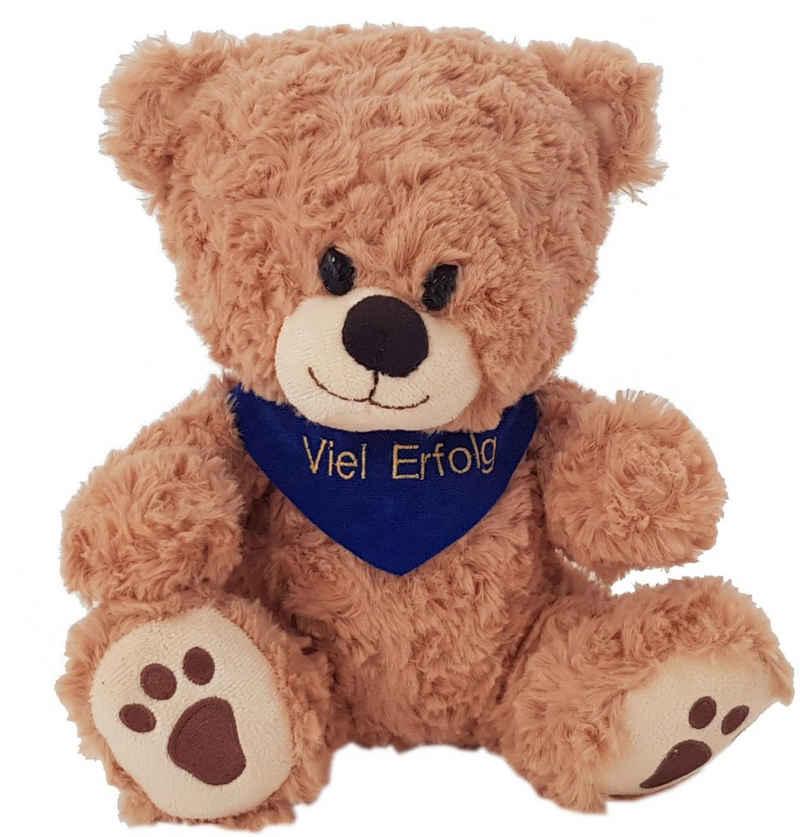 Heunec® Kuscheltier »Bär, sitzend mit blauem Halstuch«, mit individuell bestickbarem Halstuch