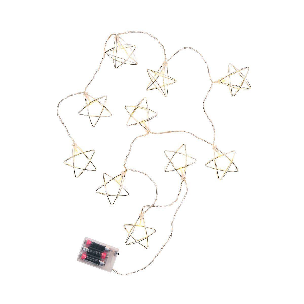 BUTLERS GEOMETRICS »Lichterkette Metallstern 10 Lichter«