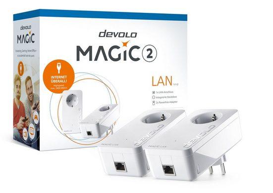 DEVOLO »(2400Mbit, G.hn, Powerline, 2x GbitLAN, Heimnetz)« LAN-Router, Magic 2 LAN Starter Kit