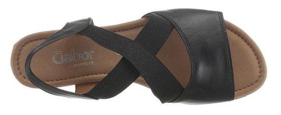 Stretchbändern Mit Gabor Glänzenden Sandalette Sandalette Gabor wqBFxXBR8