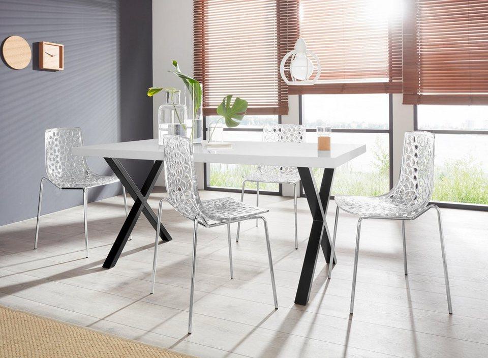 Essgruppe Ixus Michael 140 Mit 4 Stühlen Tisch Mit X