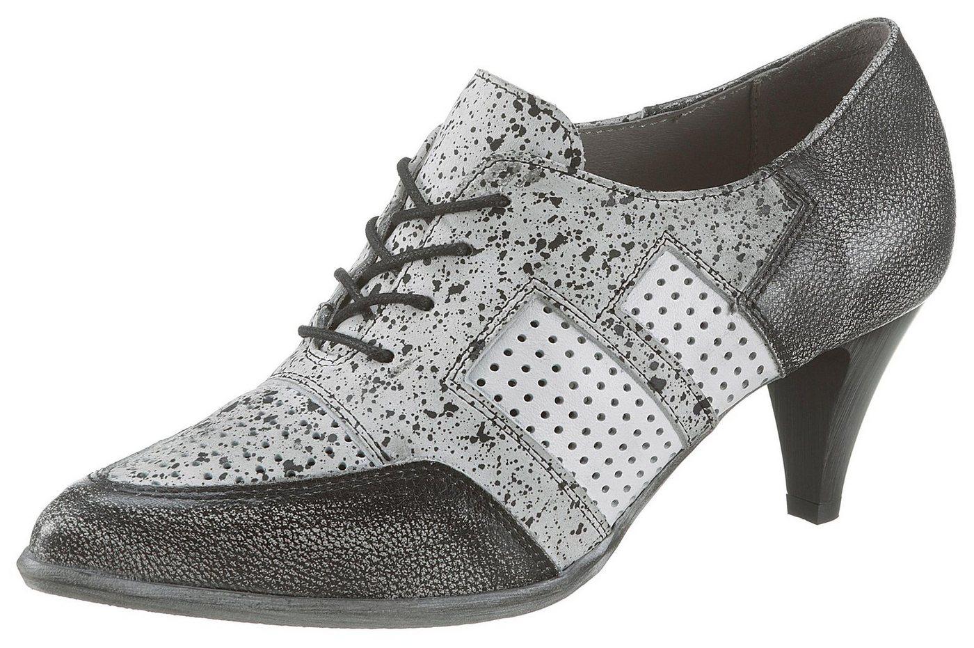 Simen Schnürpumps in eleganter, spitzer Form | Schuhe > Pumps > Schnürpumps | Grau | Simen