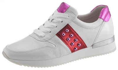 feffc31ec61546 Gabor Sneaker mit Zierperlen und Kontrastbesatz