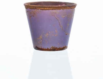 matches21 HOME & HOBBY Blumentopf »Glas Vase Dekovase Vintage Dekoglas Zylinderform violett / lila Ø9x8 cm« (1 Stück)