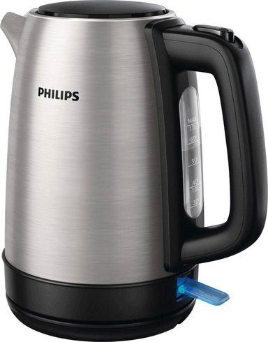 Philips Wasserkocher HD9350/90 Daily Collection, 1,7 Liter, 2200 W, Edelstahl, 1,7 l, 2200 W