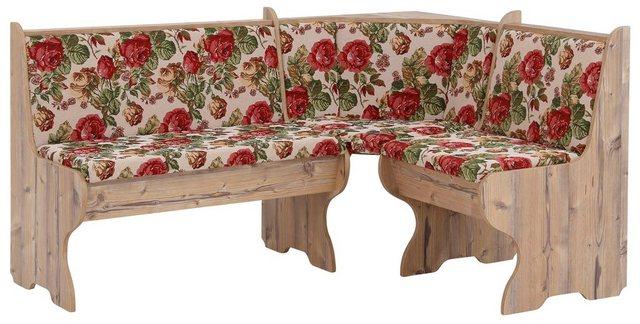 Essgruppen - Home affaire Eckbankgruppe »Minden 1«, (Set, 4 tlg., Die Stühle weichen in der Farbe ab), im rustikalen Landhausstil  - Onlineshop OTTO